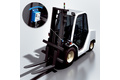 Quickly and precisely leveling the fork horizontally – for increased safety and productivity