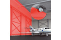 Collision avoidance in hangers using vertical wall protection