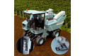 Position detection on grape harvesters