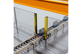 Access protection at roller conveyors