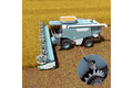 Level monitoring on combine harvesters