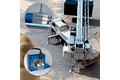 Wire draw encoder for support and boom positioning on the mobile crane