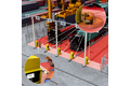 Container handling: Monitoring of hazardous areas