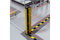 Access protection with separation of work areas