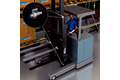 Measuring forklift heights for productive product handling with process reliability
