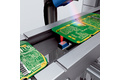 Reliable detection of irregularly shaped printed circuit boards.