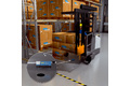 Narrow aisle trucks identify goods with RFID for complete material flow traceability.