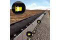 Calcul de la vitesse et du sens de défilement de la courroie