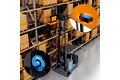 Pallet handling with narrow aisle forklifts at great heights