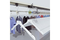 Identification of textile hanging apparels with RFID