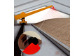 Measuring piles of raw material