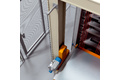 Height positioning in sheet metal storage