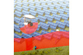 Vertical protection of solar farms