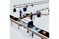 Safety along the conveying line in the package conveyor