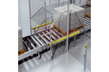 Protecting roller conveyors
