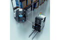 Measuring forklift height with wire draw encoders