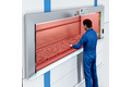 Contact protection for vertical storage systems