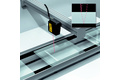 Glass thickness measurement with just one sensor head
