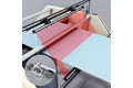 Sheet width measurement and position determination of fabric sheet edges
