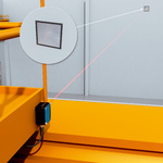 Proper positioning of overhead cranes inside storage are