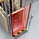 Access protection at the pallet storage unit