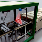 Positioning on trays in solar cell production