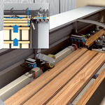 Detection of the wooden board to activate the conveyor roller