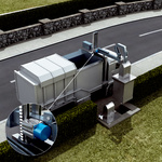 Position detection of waste containers and level measurement in underfloor containers