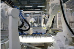 2D vision sensors and precision sensors for handling solar modules