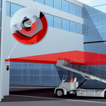 Preventing collisions between airport ground vehicles and parts of the building or passenger boarding bridges