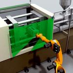 ロボットと射出成形ツールとの衝突保護
