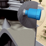 Sorbent material storage silo
