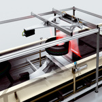 Automated tire separating in the conveying line