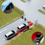 Preventing tailgating at bollards and carrying out identification