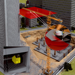 Preventing collisions between tower cranes and buildings