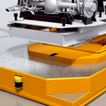 Linear positioning in electrical overhead conveyors