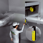 Safety locking function on the maintenance openings of heating, air conditioning, and ventilation systems