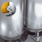 ボトル充填設備の供給タンク内の温度測定