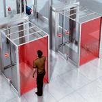Separating people at passenger locks
