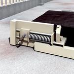 Monitoring belt tension on the conveyor belt