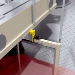 Presence detection behind a light curtain for hazardous area protection
