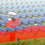 Vertical protection of solar farms