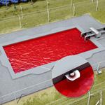 Horizontal monitoring of cooling ponds