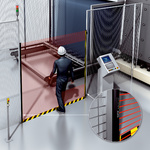 Access protection of the glass plate storage