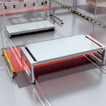 Top end position at the scissor lift table