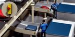 Täyttötason valvonta matkatavaroiden poistokouruissa