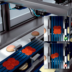 Position detection of products on conveyor belts