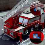Aerial ladder positioning on aerial rescue trucks