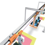 Distance monitoring and collision avoidance for electrical overhead conveyors