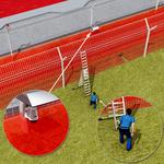 Horizontal protection on double fences